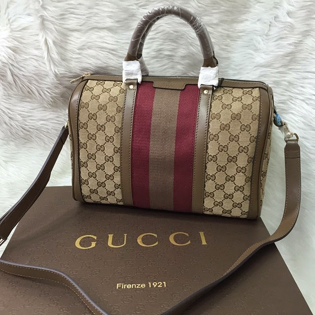 ce23891d42b Gucci Vintage Boston Medium Canvas – Premium Original Leather (Paper Bag    box available)