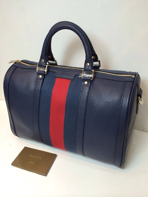 782e8603d1d Gucci Vintage Boston Medium Togo Navy Original Leather Bag – In Mirror  Quality ( Free Box   Paper Bag Gucci)